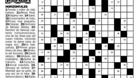El reto del miércoles: ¿Cuántos crucigramas puedes hacer?