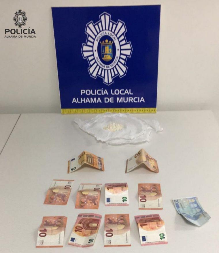 Dos detenidos más en Alhama con 52 gramos de cocaína
