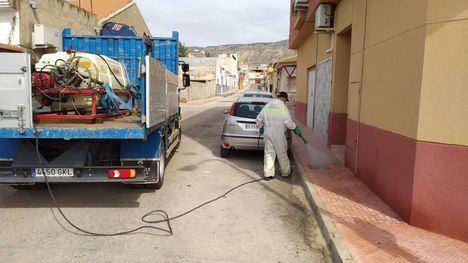 FOTOS La limpieza y desinfección de calles de este viernes