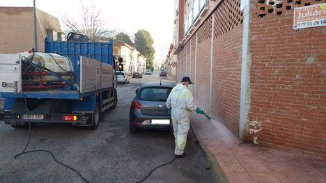 FOTOS La Brifor vuelve a sumarse a las labores de desinfección
