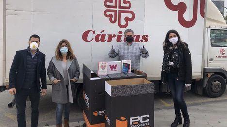 PcComponentes dona material tecnológico a Cáritas y Cruz Roja