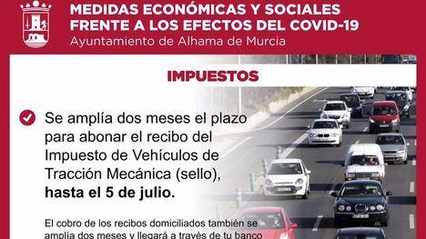 El Ayuntamiento amplía al 5 de julio el pago de basura y sello del coche