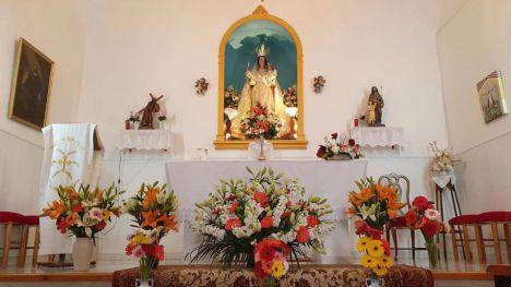 La pedanía de Las Cañadas celebra el día de su Patrona en casa