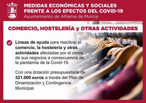 321.000 euros para ayudar al comercio y hostelería de Alhama