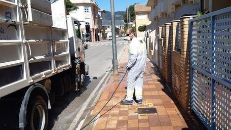 V/F Operarios de Carreteras se suman a la limpieza de Alhama