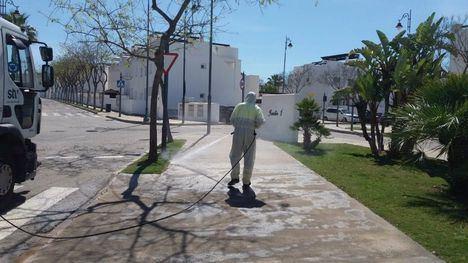 FOTOS El Condado, desinfectado con apoyo del Ayuntamiento