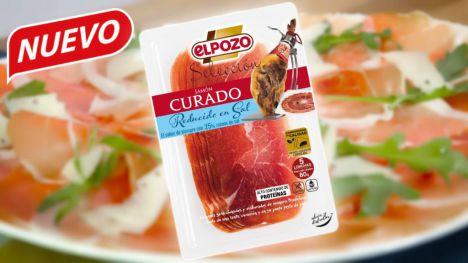 ElPozo lanza su jamón curado lonchas reducido en sal