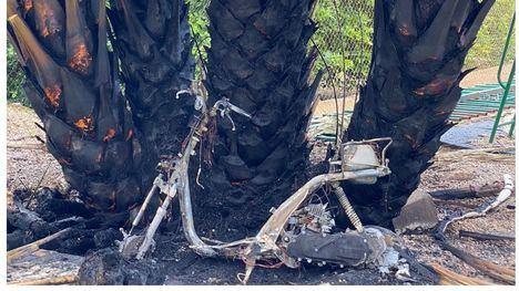 Un rayo provoca un incendio en El Cañarico, sin heridos