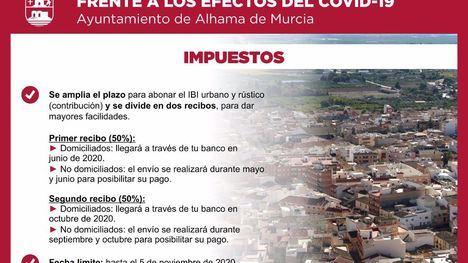 Este año el IBI se paga en 2 recibos, recuerda el Ayuntamiento