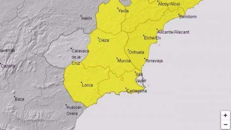 La Aemet emite aviso amarillo por lluvias para el lunes 8 de junio