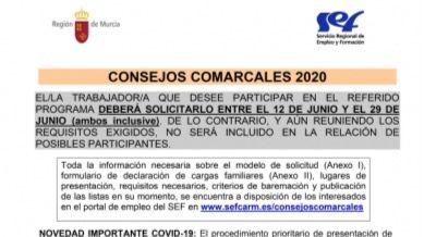 Nueva convocatoria para los Consejos Comarcales de Empleo