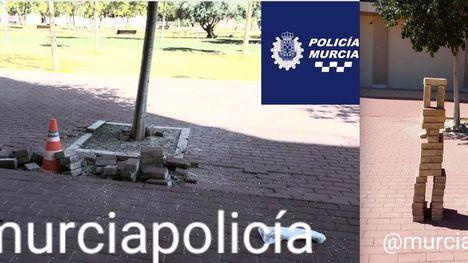 FOTOS El ruego de la Policía Local de Murcia a los padres
