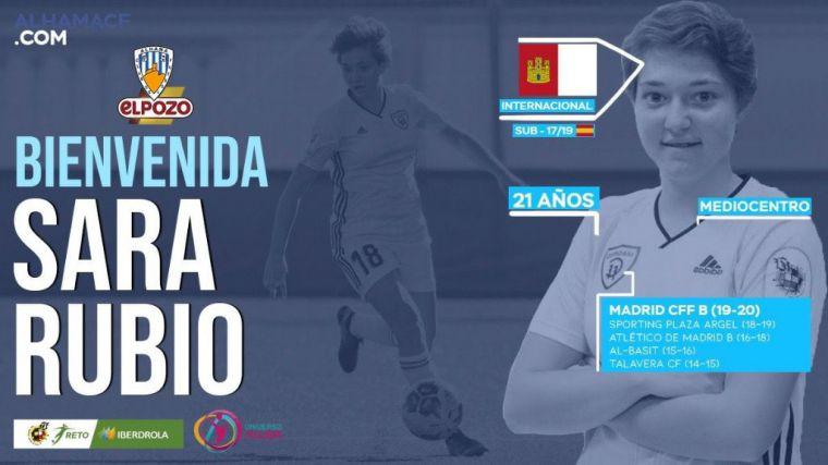 El Alhama CF ElPozo ficha a la mediocentro Sara Rubio