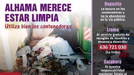 FOTOS Inician una campaña para el buen uso de los contenedores