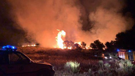 Una tormenta eléctrica provoca tres incendios durante la noche