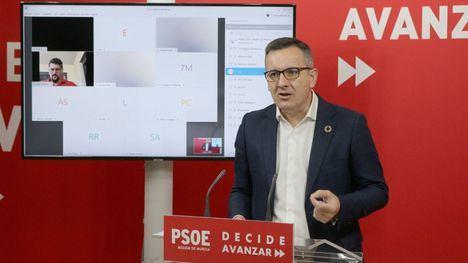 Conesa pide a López Miras el uso obligatorio de mascarilla