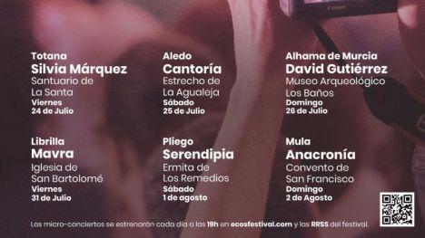 El concierto del ECOS Festival en Aledo, aplazado