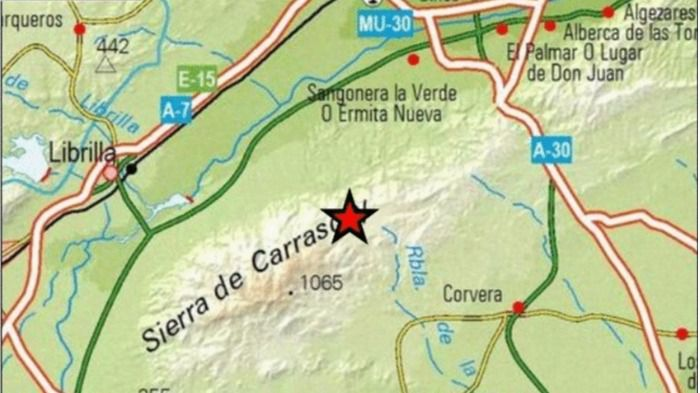 Movimiento sísmico en Librilla de 2,4 de magnitud
