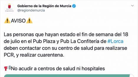 Salud busca a clientes de dos locales de ocio nocturno en Lorca