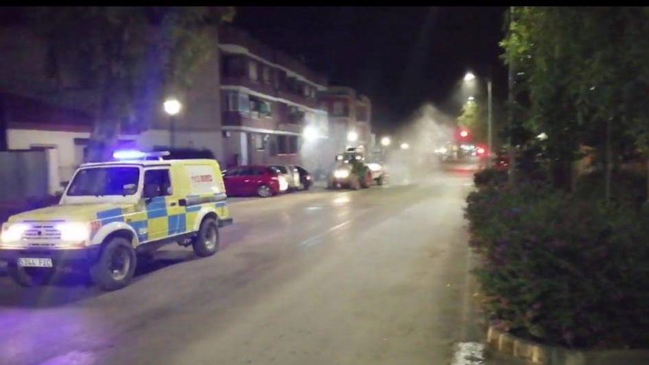 Librilla vuelve a desinfectar las calles hoy a las 22:00 horas
