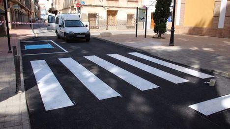FOTOS Finalizan las obras en la calle Acequia Espuña