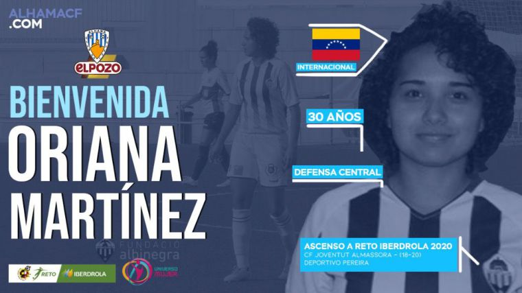 Oriana Martínez, décimo fichaje del Alhama CF ElPozo
