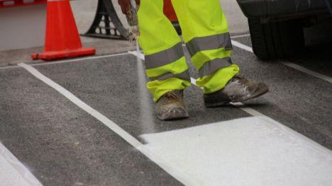 Este lunes comienza el repintado de marcas viales en Alhama