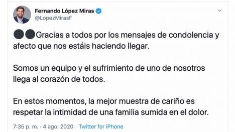La política regional muestra su apoyo a Manuel Villegas
