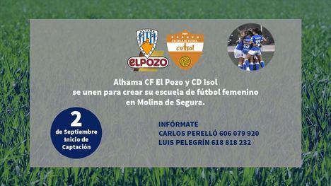 Alhama CF ElPozo inicia una escuela femenina con CD Isol-Los Juncos