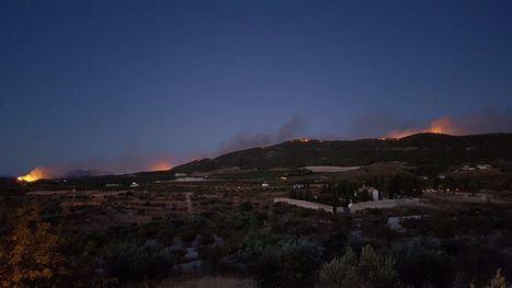 FOTOS Protección Civil de Librilla y Totana, en el incendio de Mula