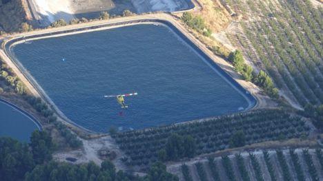 Imagen tomada esta mañana desde la aeronave de coordinación de medios aéreos.
