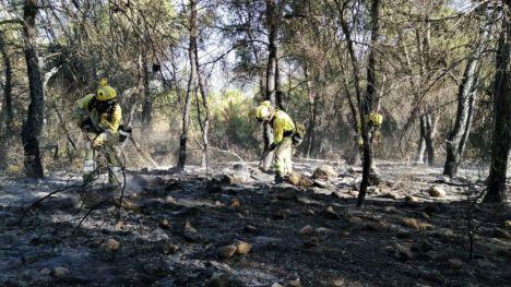 40 personas trabajan en el incendio de la Sierra de la Silla