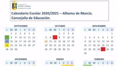 Así queda el calendario escolar al iniciarse el curso el próximo día 14