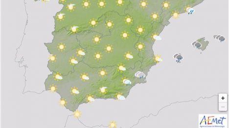 Una DANA dejará lluvias y tormentas en la Región este lunes