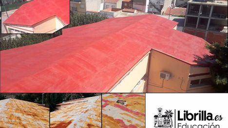 Finaliza la reparación de la cubierta de los colegios de Librilla