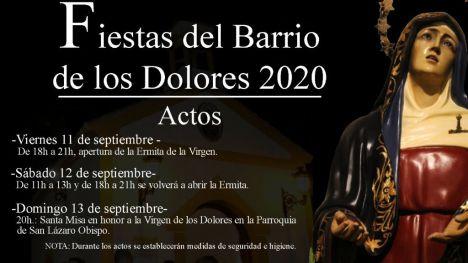 Suspenden la apertura de la ermita del Barrio este fin de semana