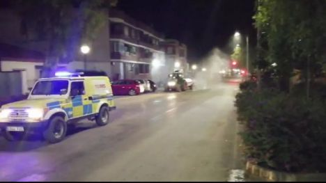 Librilla desinfecta esta noche sus calles a partir de las 21:00 horas