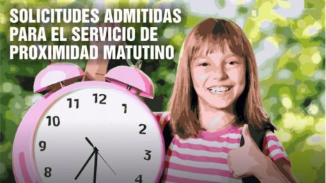 80 niños, admitidos en el Servicio Matutino la próxima semana