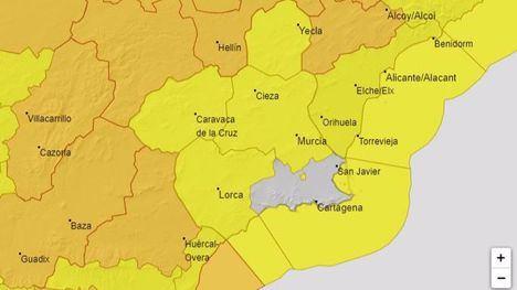 Alerta amarilla por vientos de 70km/h mañana viernes