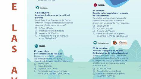 Sierra Espuña celebra el Día de las Aves con una ruta en Gebas