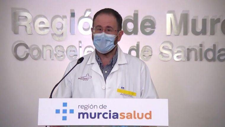 El portavoz del Comité de Seguimiento Regional del Covid19, Jaime Pérez.