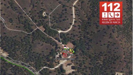 Atienden a una senderista herida en Sierra Espuña