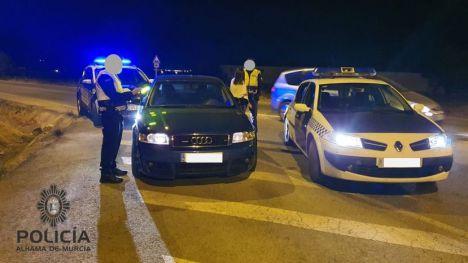 Huye a 180 km/h de un control de la Policía Local de Alhama