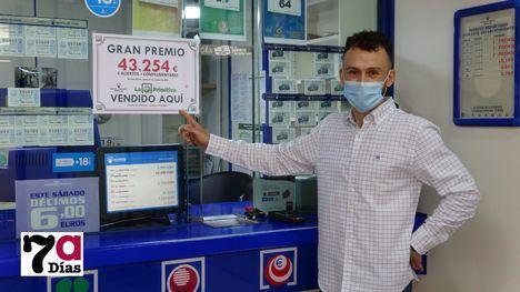 VÍDEO La Primitiva deja en Alhama más de 43.000 euros