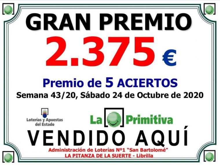 La Primitiva del sábado deja más de 2.000 euros en Librilla