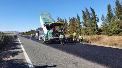 Fomento mejora la carretera entre Alhama y Cartagena