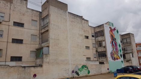 Murfy dedica un mural a la lucha contra el Covid19 en Alhama