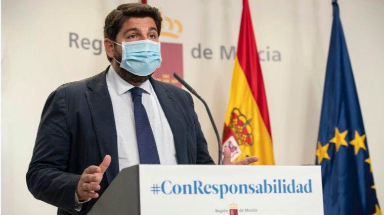 El presidente de la Región, Fernando López Miras.