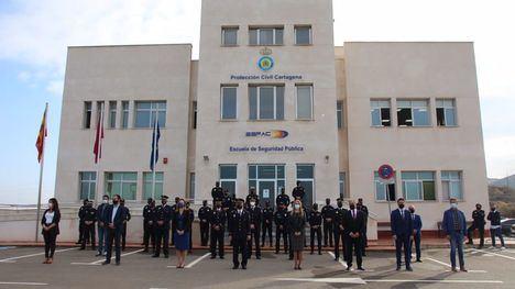 Los cuatro nuevos policías locales de Alhama, graduados