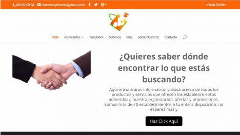 Los comerciantes de Alhama estrenan su nueva página web